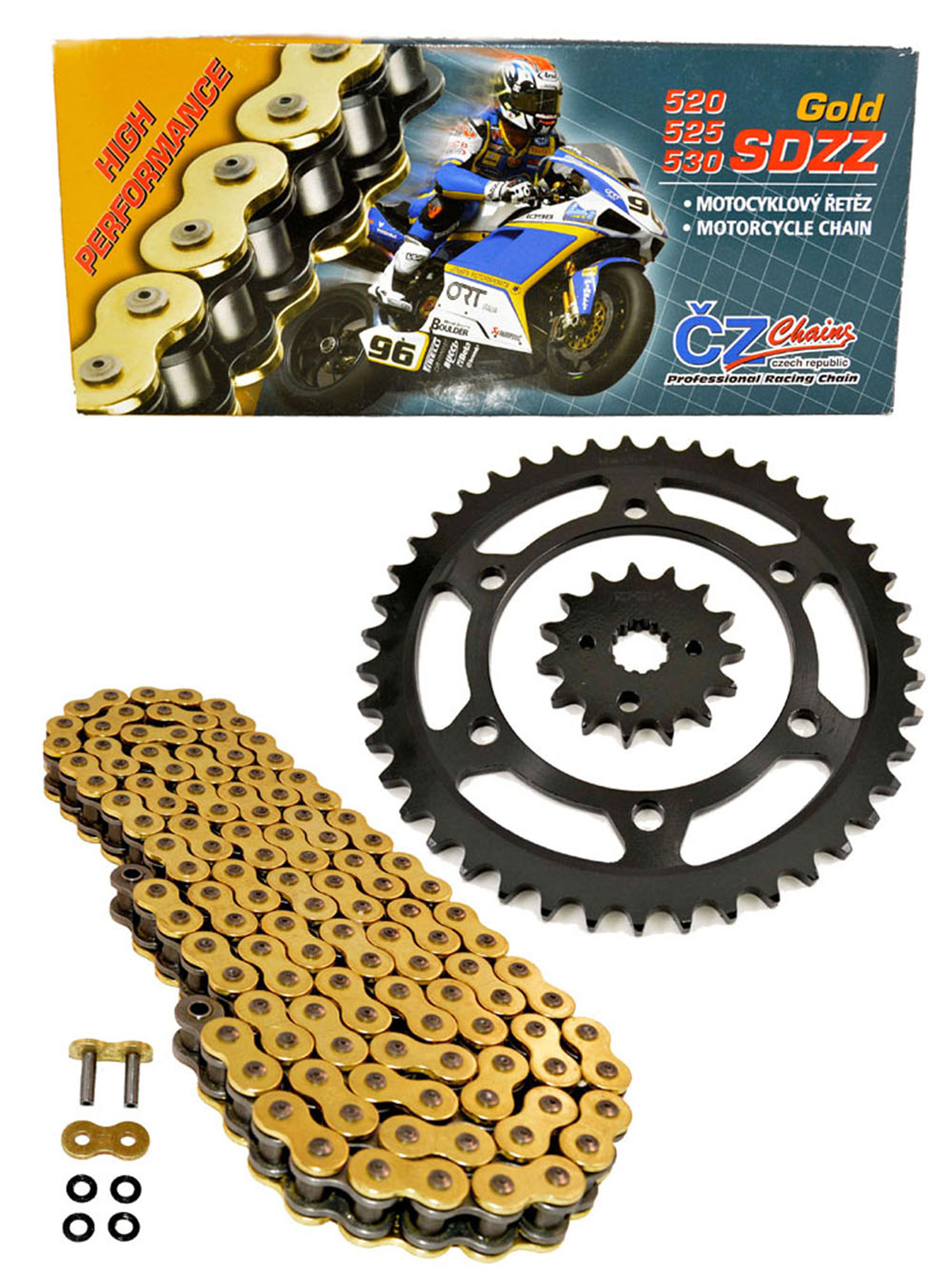 2006-2007 Fits Honda CBR1000RR CZ SDZZ Gold X Ring Chain And Sprocket Kit 16//42 120L