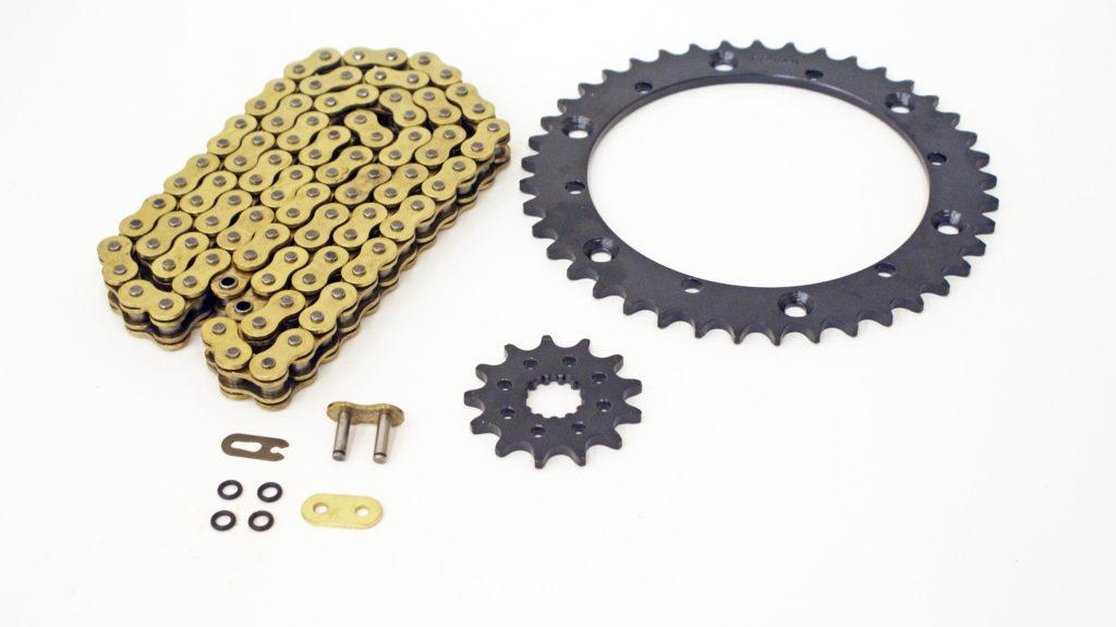 Gold X-Ring Chain and 13//41 Sprocket Set Power 1989-2006 Yamaha Banshee 350