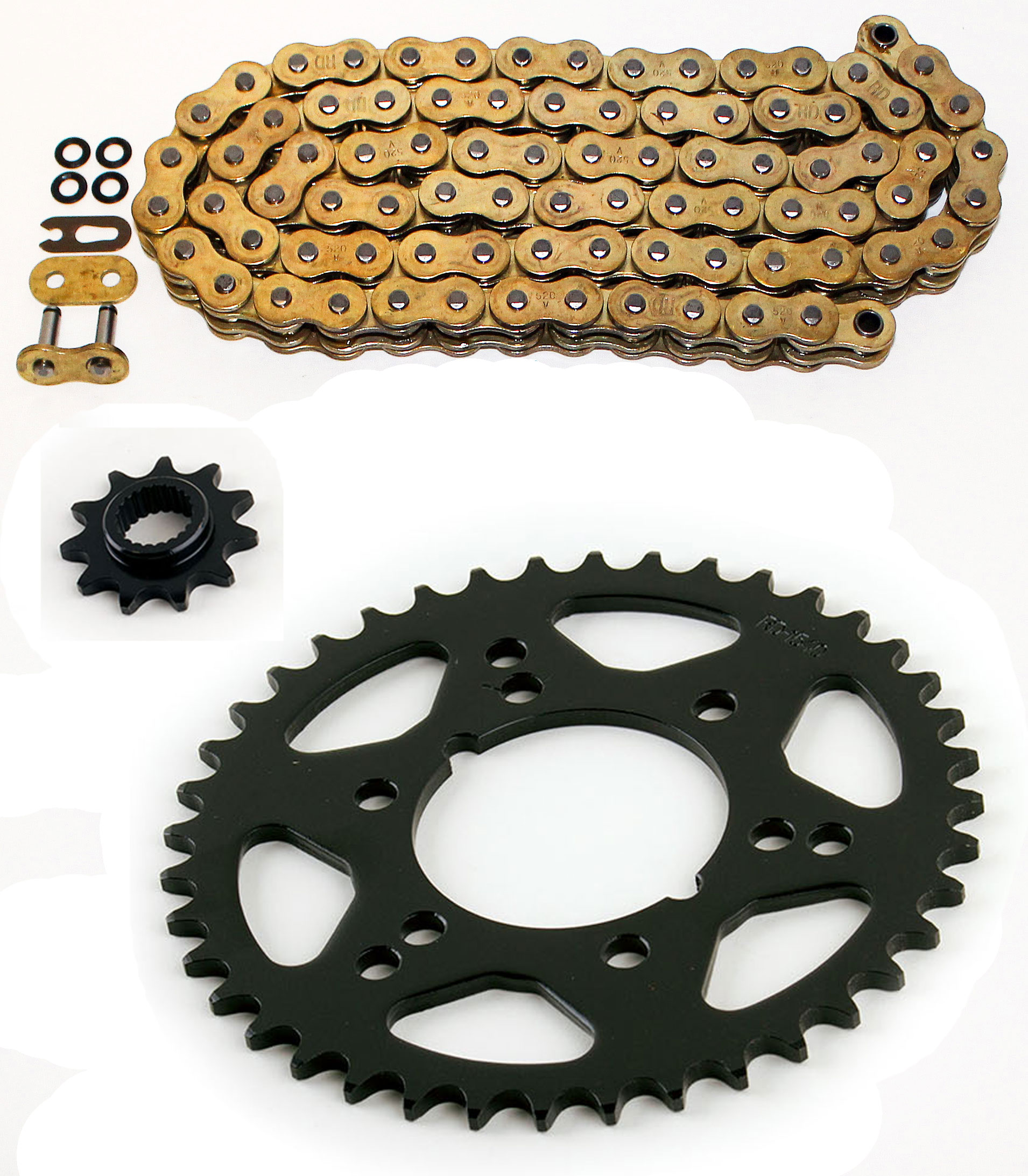 2000 Polaris 325 Trail Boss 325 O-Ring Chain and Sprocket Set 11//42 520-82L