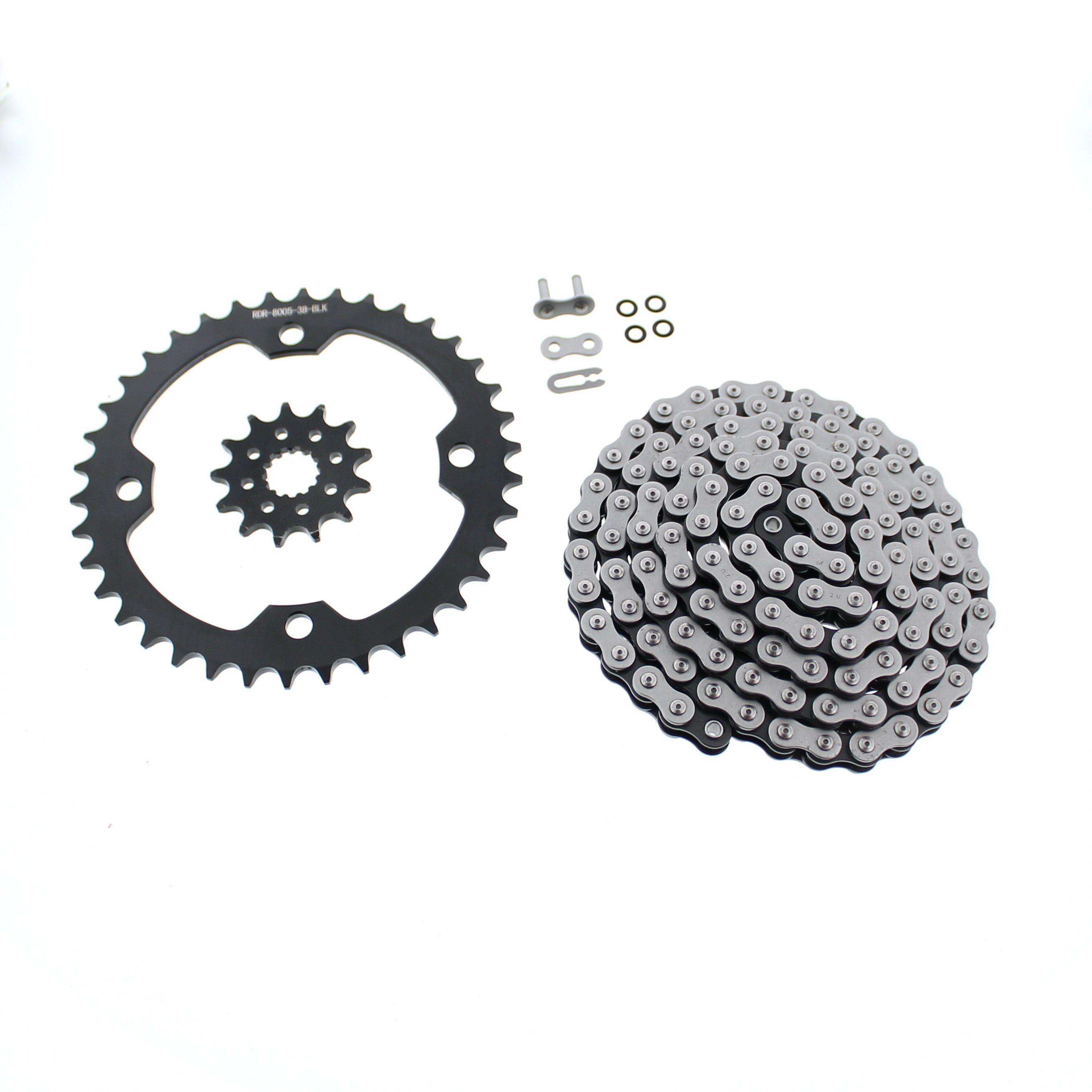 O-Ring Chain and Silver Sprocket 13//38 520-96L 2004-2013 fits Yamaha YFZ450 YFZ 450