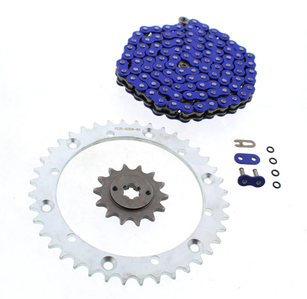 Red Non O-Ring Chain /& Silver Sprocket 13//40 102L 06-09 fits Yamaha YFM700 700 Raptor