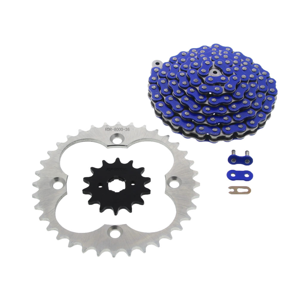Blue O-Ring Drive Chain /& Sprockets Kit Fits HONDA TRX250R TRX250X 1987-1992