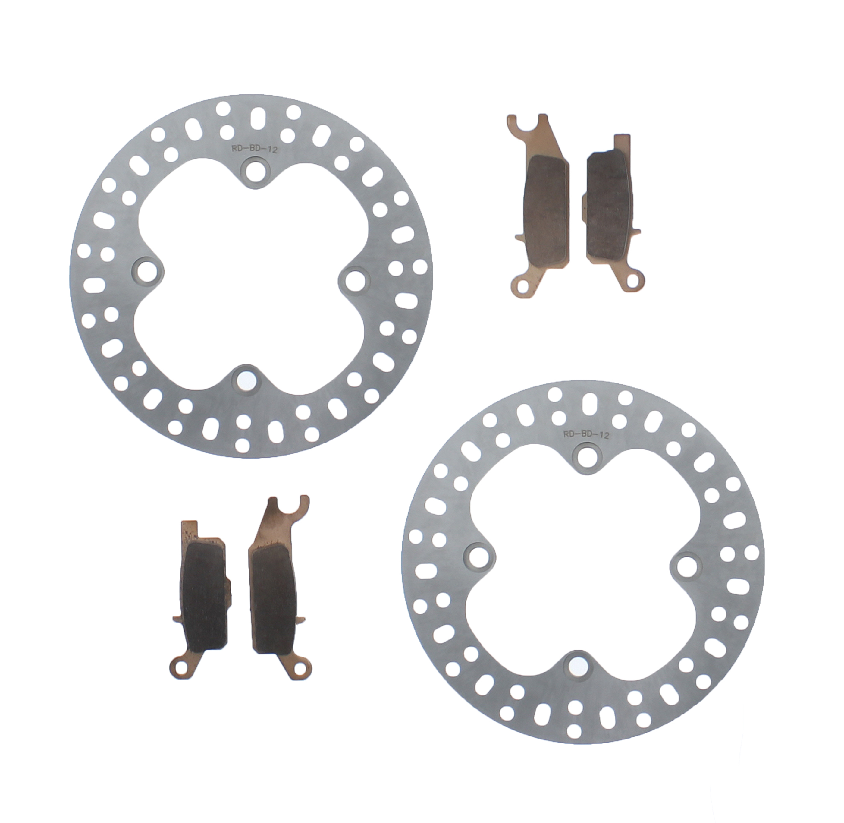 Front /& Rear Brake Pads for Yamaha Grizzly 550 YFM550 Fi Eps Hunting 2009-2014